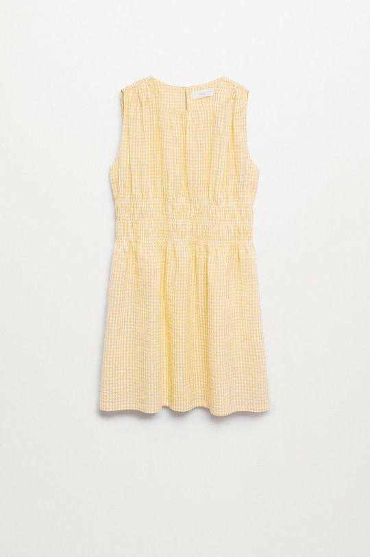 żółty Mango Kids - Sukienka dziecięca SOL
