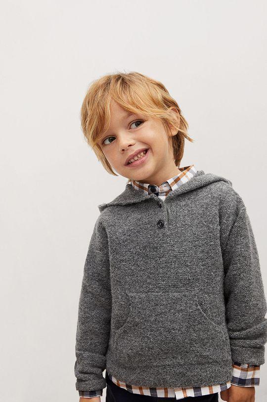 szary Mango Kids - Sweter dziecięcy CHARLIE Chłopięcy