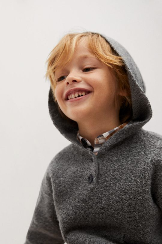 Mango Kids - Sweter dziecięcy CHARLIE 5 % Elastan, 65 % Poliester, 30 % Poliester z recyklingu