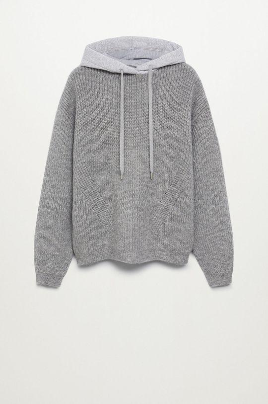 szary Mango Kids - Sweter dziecięcy MAX Chłopięcy