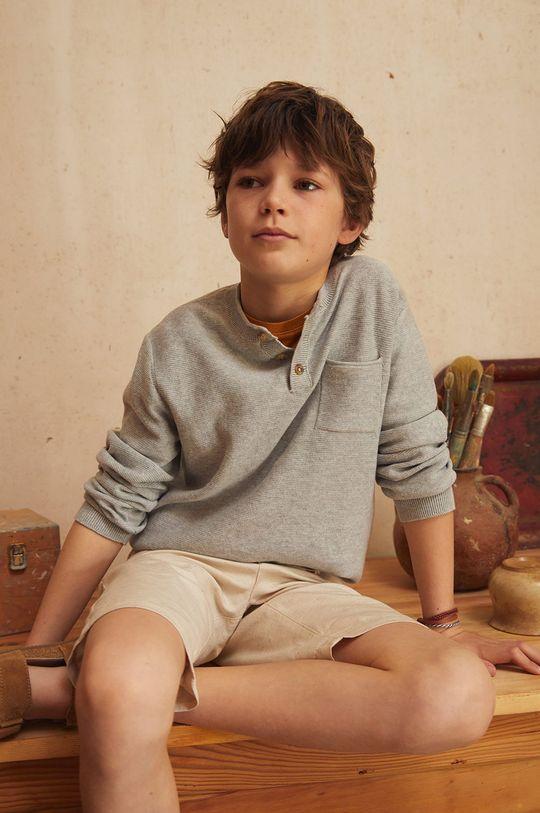 Mango Kids - Sweter dziecięcy LOLO jasny szary
