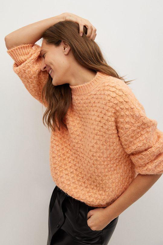 pomarańczowy Mango - Sweter NORMAN Damski