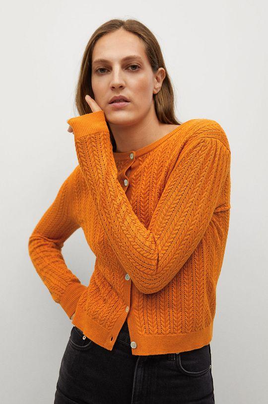 pomarańczowy Mango - Kardigan TELLON Damski