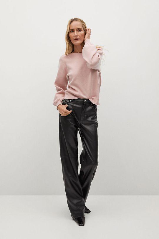 Mango - Sweter Ginesta pastelowy różowy