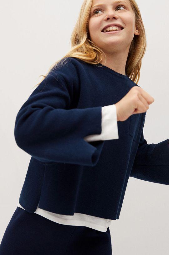 granatowy Mango Kids - Sweter dziecięcy FERNANDA Dziewczęcy