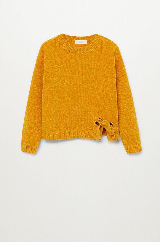 žltá Mango Kids - Detský sveter FILIPA Dievčenský