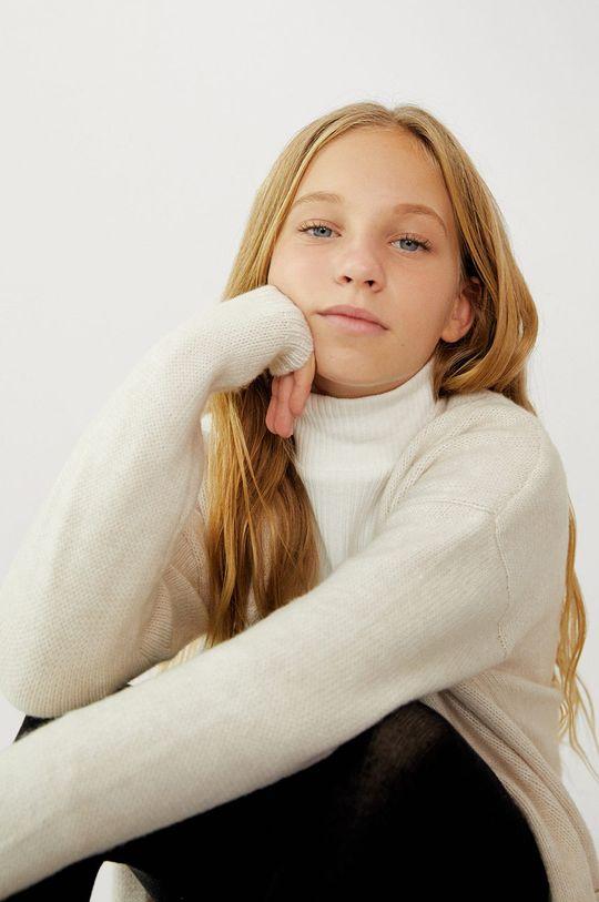 Mango Kids - Detský sveter KILIE  32% Akryl, 5% Vlna, 63% Recyklovaný polyester