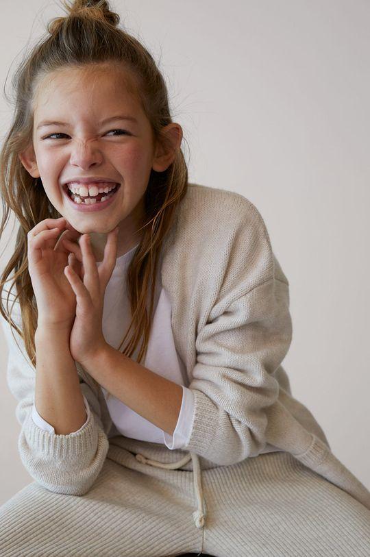 svetlobéžová Mango Kids - Detský sveter KILIE