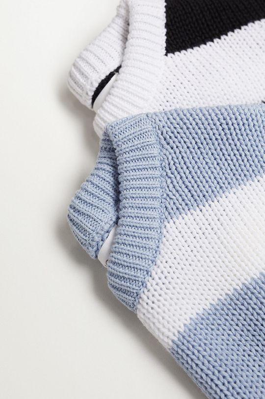 Mango Kids - Sweter dziecięcy KODAK blady niebieski