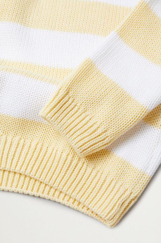 Mango Kids - Sweter dziecięcy KODAK żółty