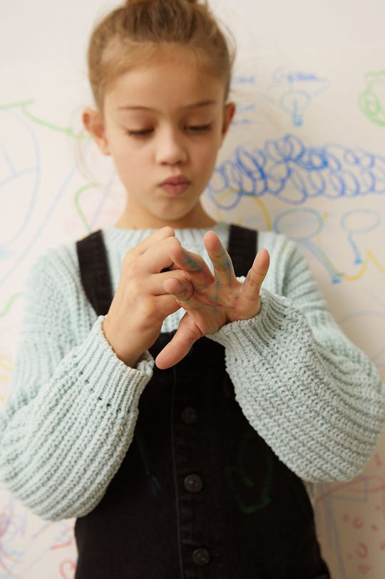 zielony Mango Kids - Sweter dziecięcy EMMA Dziewczęcy
