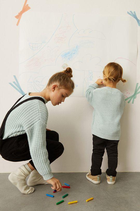 Mango Kids - Sweter dziecięcy EMMA zielony