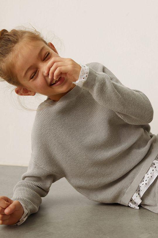 szary Mango Kids - Sweter dziecięcy MIXY8 Dziewczęcy