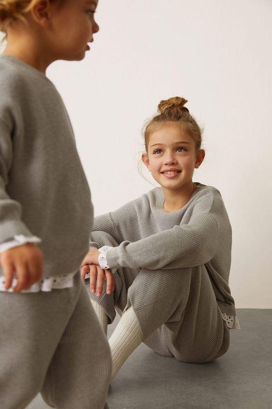 Mango Kids - Sweter dziecięcy MIXY8 szary