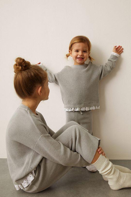 szary Mango Kids - Sweter dziecięcy MINIMIXY Dziewczęcy