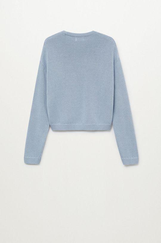 Mango Kids - Sweter dziecięcy KODI blady niebieski