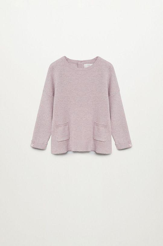 purpurowy Mango Kids - Sweter dziecięcy Paolab 86-116 cm Dziewczęcy
