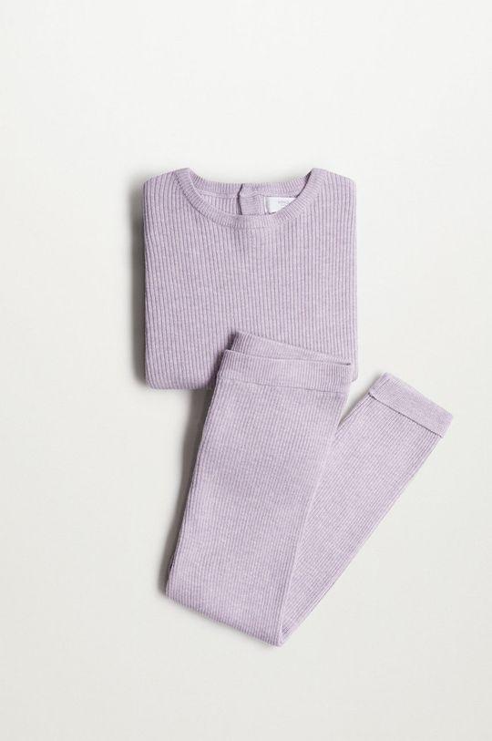 Mango Kids - Sweter dziecięcy Paolab 86-116 cm purpurowy