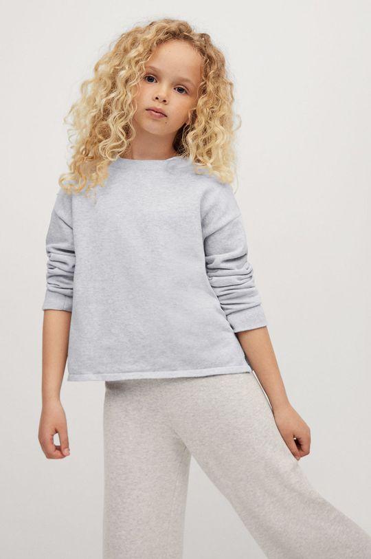 jasny szary Mango Kids - Sweter dziecięcy MEG Dziewczęcy