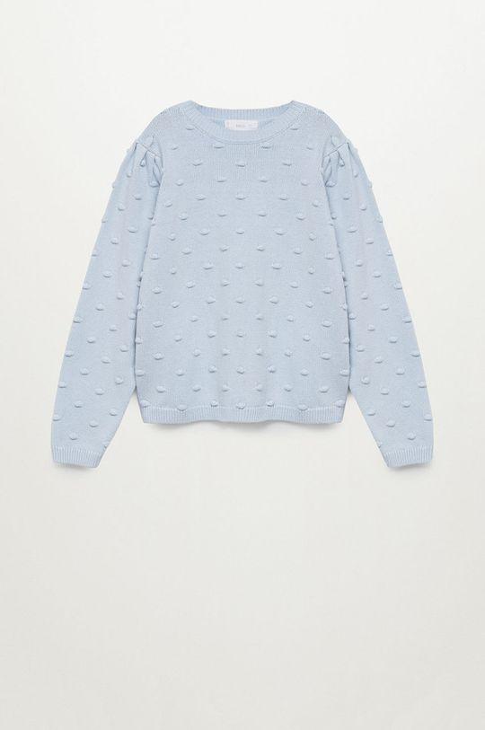blady niebieski Mango Kids - Sweter dziecięcy Pompa 116-164 cm Dziewczęcy