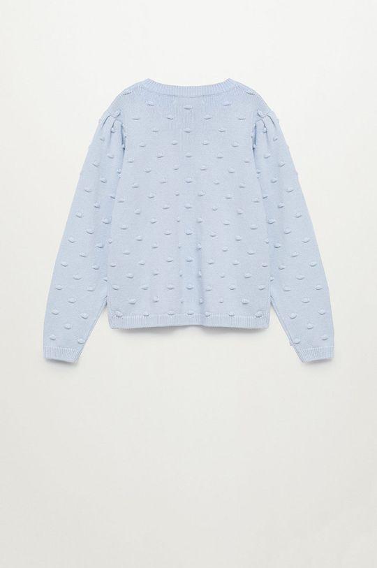 Mango Kids - Sweter dziecięcy Pompa 116-164 cm blady niebieski