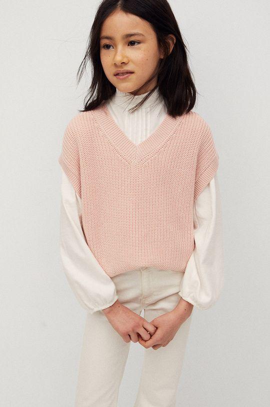 pastelowy różowy Mango Kids - Kamizelka dziecięca Vera 116-164 cm Dziewczęcy