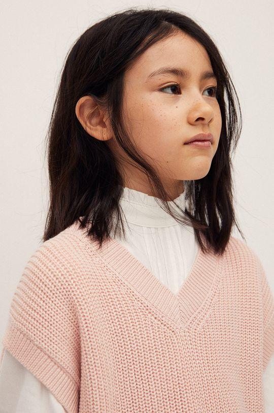 pastelowy różowy Mango Kids - Kamizelka dziecięca Vera 116-164 cm