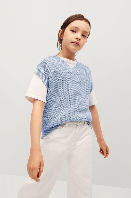 blady niebieski Mango Kids - Kamizelka dziecięca Vera 116-164 cm Dziewczęcy
