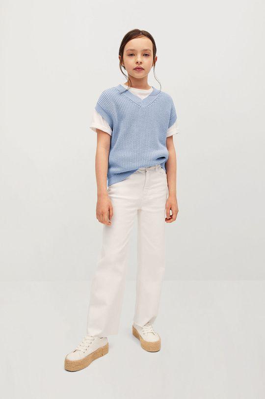 Mango Kids - Kamizelka dziecięca Vera 116-164 cm blady niebieski