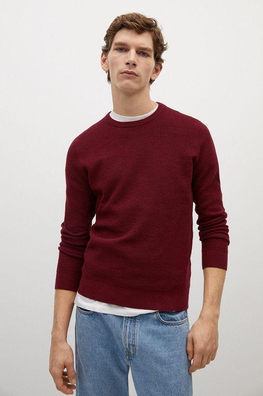 czerwony Mango Man - Sweter ANTIGUA Męski