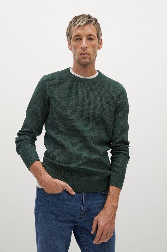 zielony Mango Man - Sweter ANTIGUA Męski