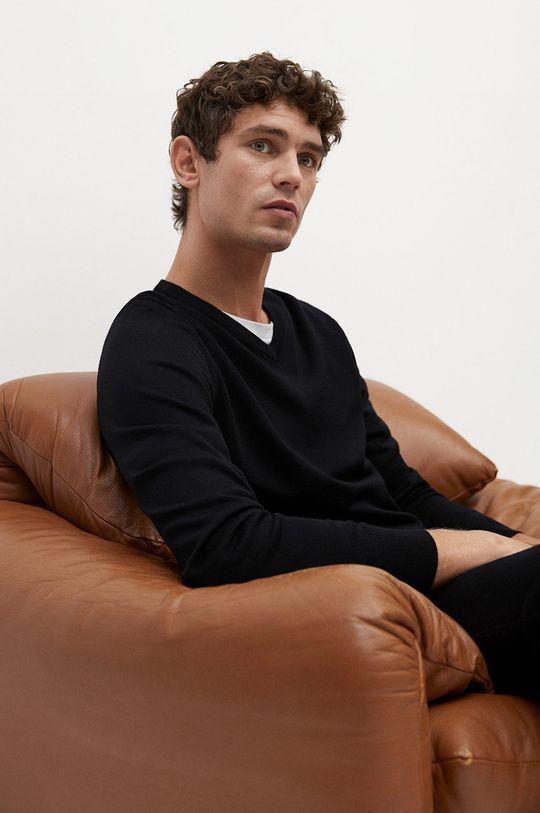 czarny Mango Man - Sweter wełniany WILLYV