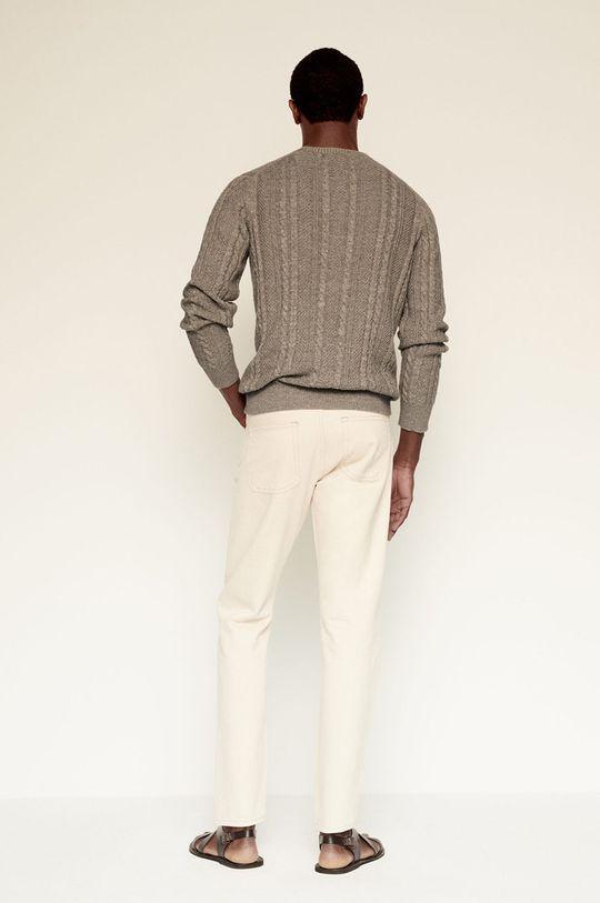 Mango Man - Sweter Cesar 50 % Bawełna, 50 % Len