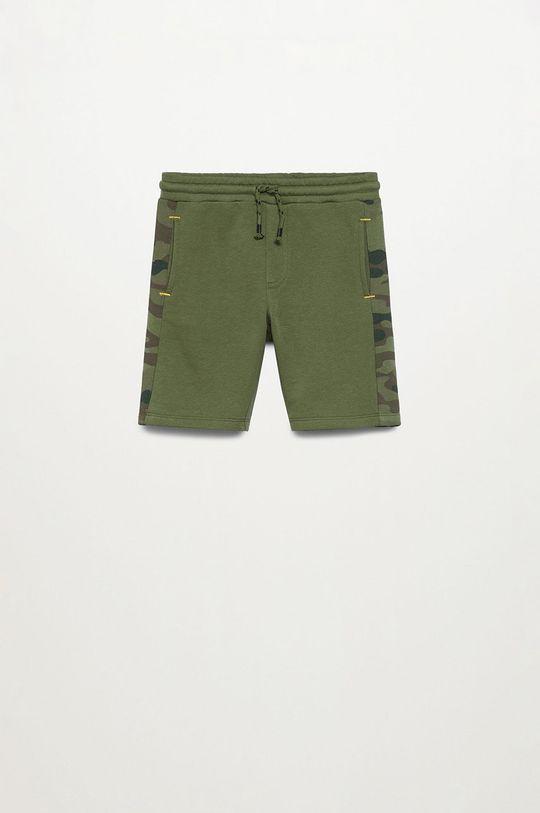 zelená Mango Kids - Detské krátke nohavice COLIN Chlapčenský