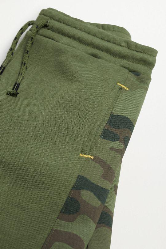 Mango Kids - Detské krátke nohavice COLIN zelená