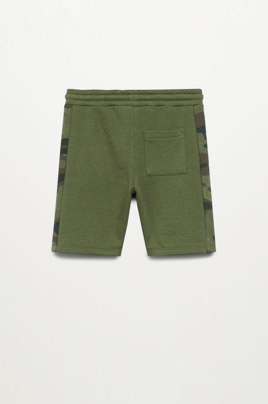 Mango Kids - Detské krátke nohavice COLIN  10% Polyester, 90% Organická bavlna