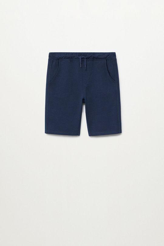 tmavomodrá Mango Kids - Detské krátke nohavice JAVI Chlapčenský