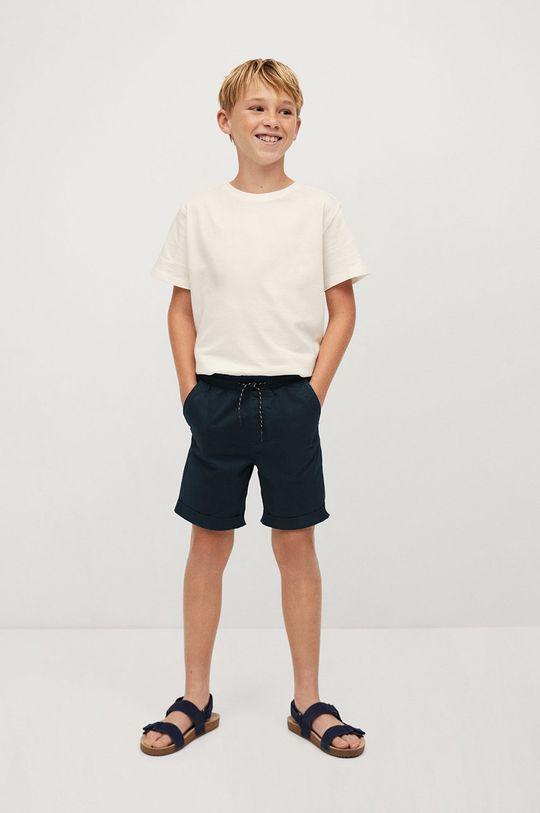 Mango Kids - Pantaloni scurti copii Roma 110-164 cm bleumarin