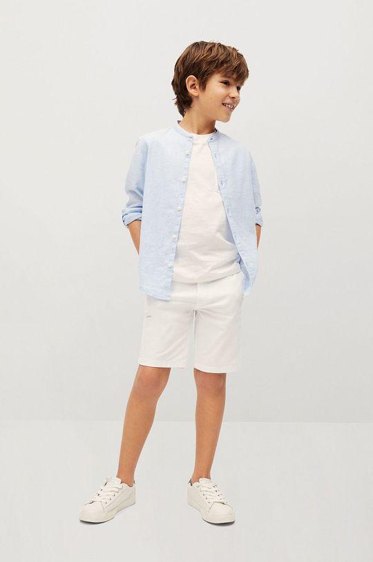 Mango Kids - Detské krátke nohavice Pico-I 110-164 cm biela