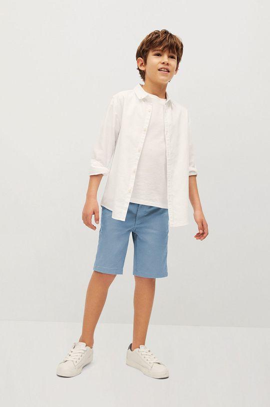 Mango Kids - Szorty dziecięce Pico-I 110-164 cm niebieski
