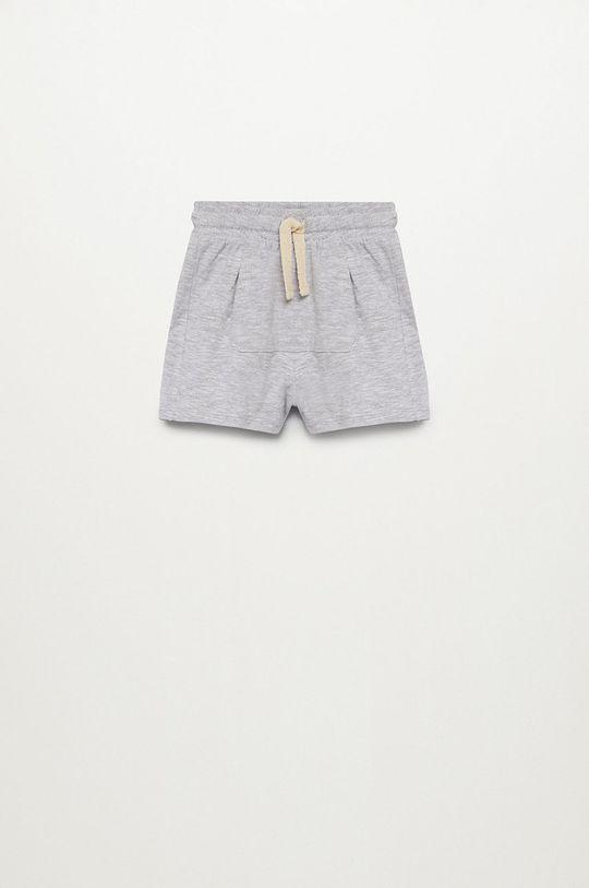 sivá Mango Kids - Detské krátke nohavice MANU Chlapčenský