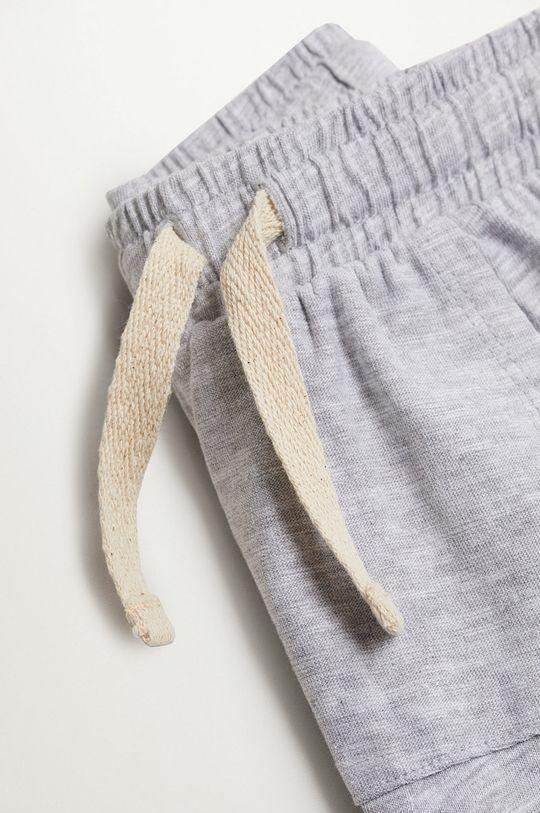 Mango Kids - Detské krátke nohavice MANU sivá