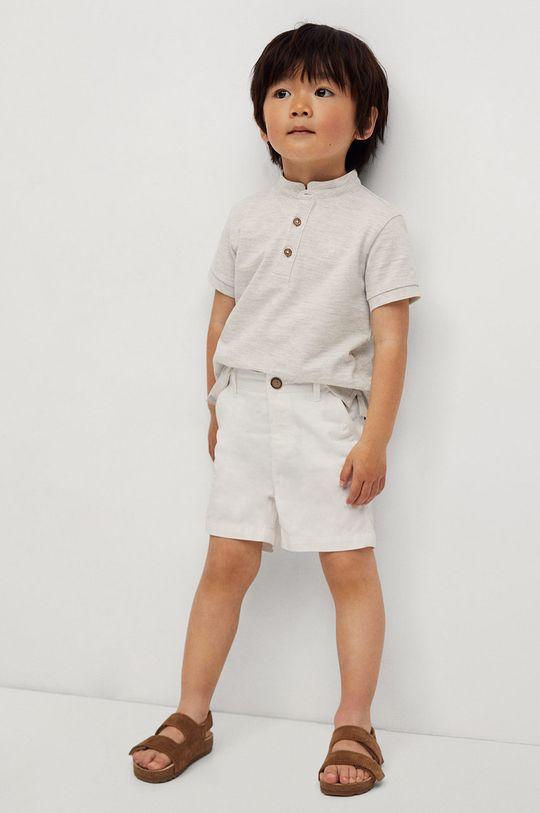 biela Mango Kids - Detské krátke nohavice Berachi-I 80-104 cm Chlapčenský