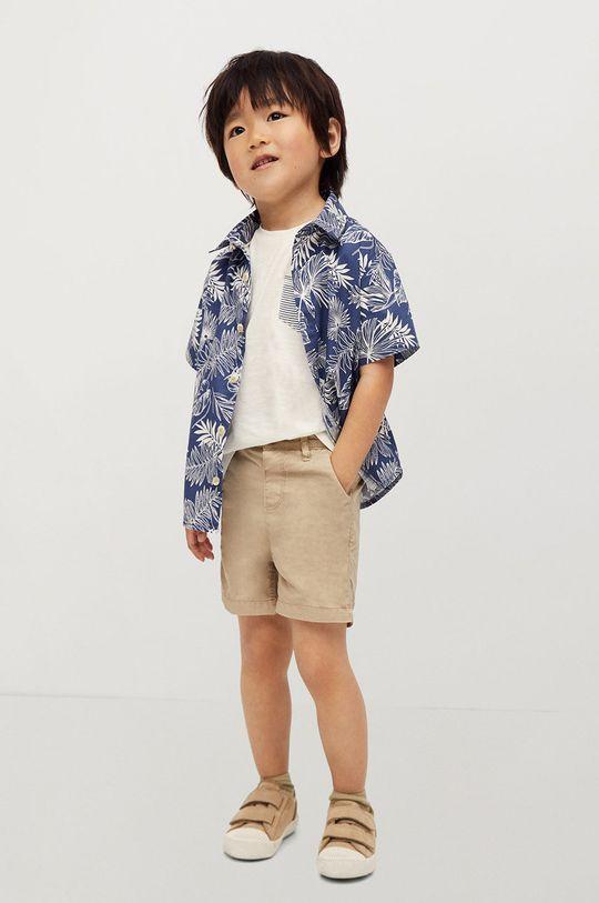 Mango Kids - Detské krátke nohavice Berachi-I 80-104 cm telová