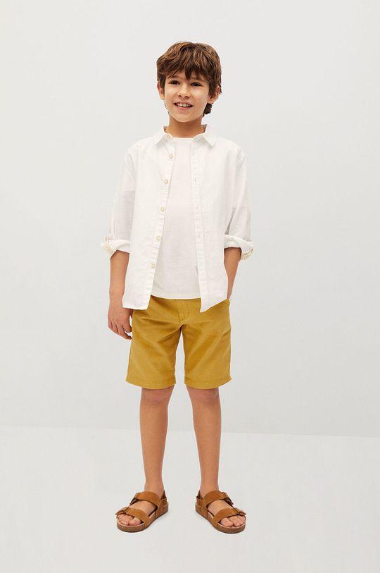 Mango Kids - Szorty dziecięce Calatea 110-164 cm żółty
