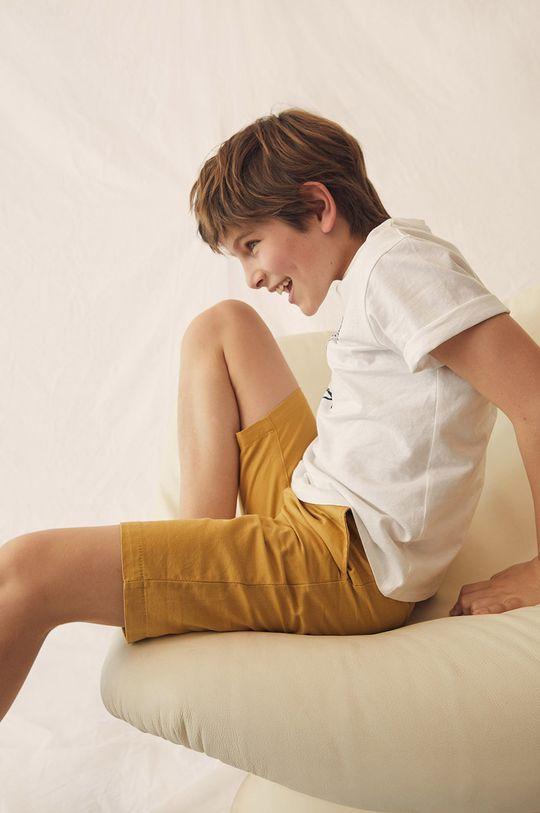 żółty Mango Kids - Szorty dziecięce Calatea 110-164 cm
