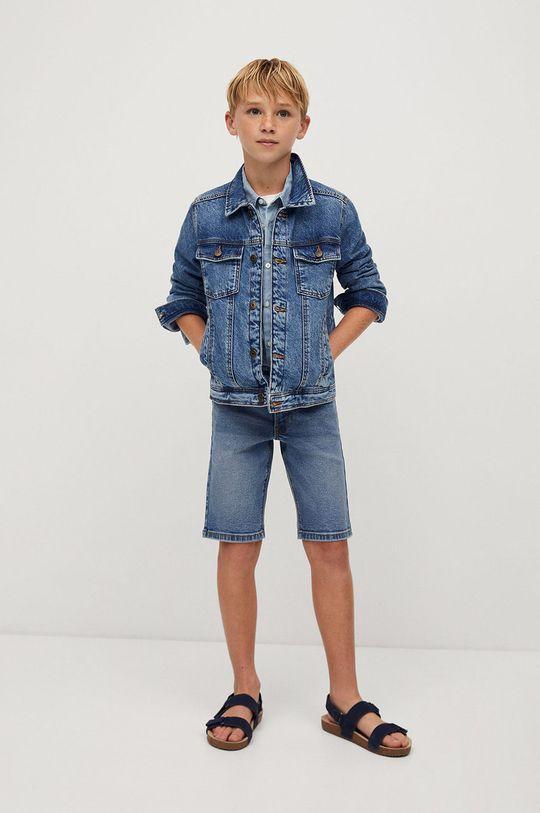 Mango Kids - Szorty jeansowe dziecięce John 110-164 cm niebieski