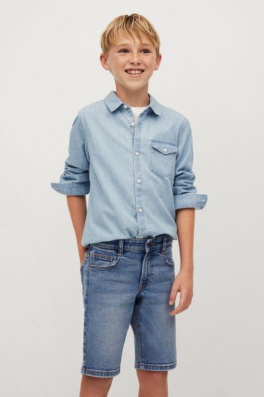 Mango Kids - Szorty jeansowe dziecięce John 110-164 cm 99 % Bawełna, 1 % Elastan