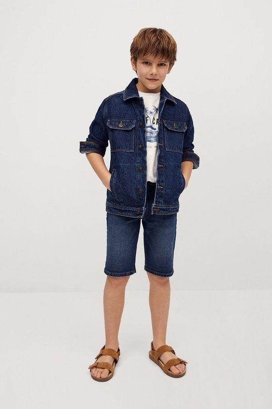 Mango Kids - Pantaloni scurti din denim pentru copii John 110-164 cm mare