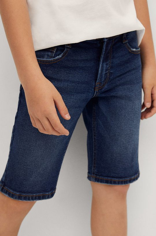 Mango Kids - Pantaloni scurti din denim pentru copii John 110-164 cm  99% Bumbac, 1% Elastan